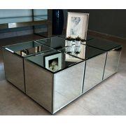 Mesa de Centro Espelhada Sophia Luxo
