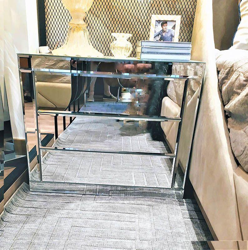 Criado-Mudo Espelhado Luxo - A70
