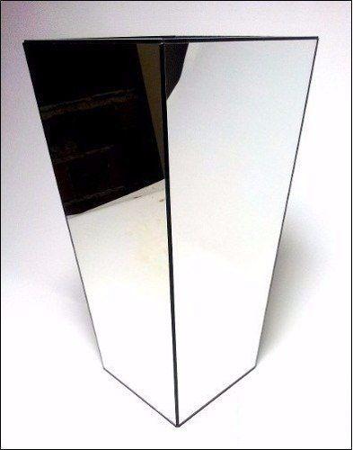 Cachepot Trapézio Espelhado Prata
