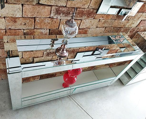 Aparador Barzinho Espelhado Luxo  - Universo Decor Móveis e Decoração