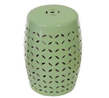 - Banqueta Seat Garden Verde Modelo Vazado - Vaso Decorativo