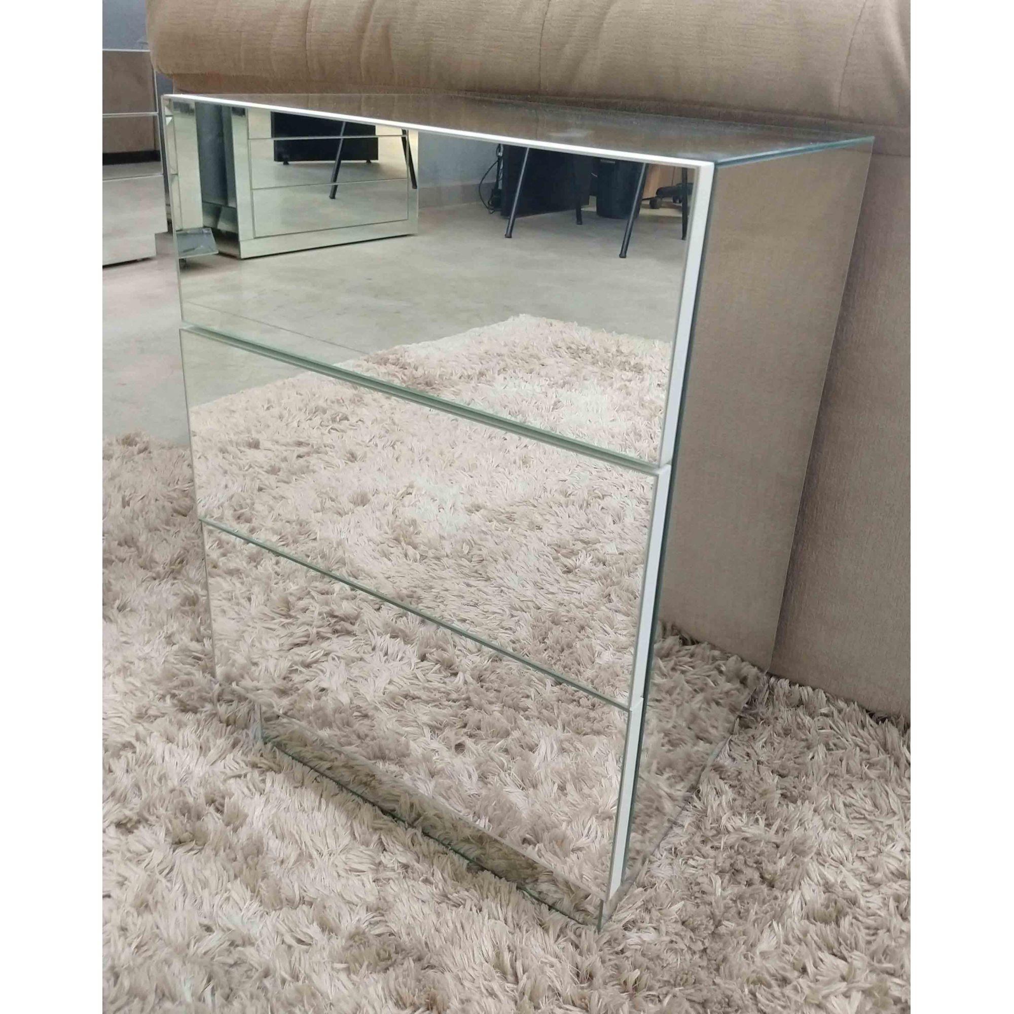 Criado Mudo Espelhado SLIM- A50  - Universo Decor Quadros & Espelhos