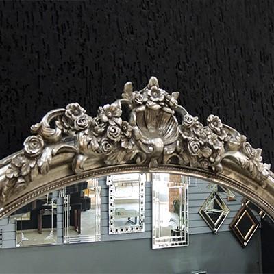Espelho Colonial Moldura Prata FRM 228  - Universo Decor Móveis e Decoração
