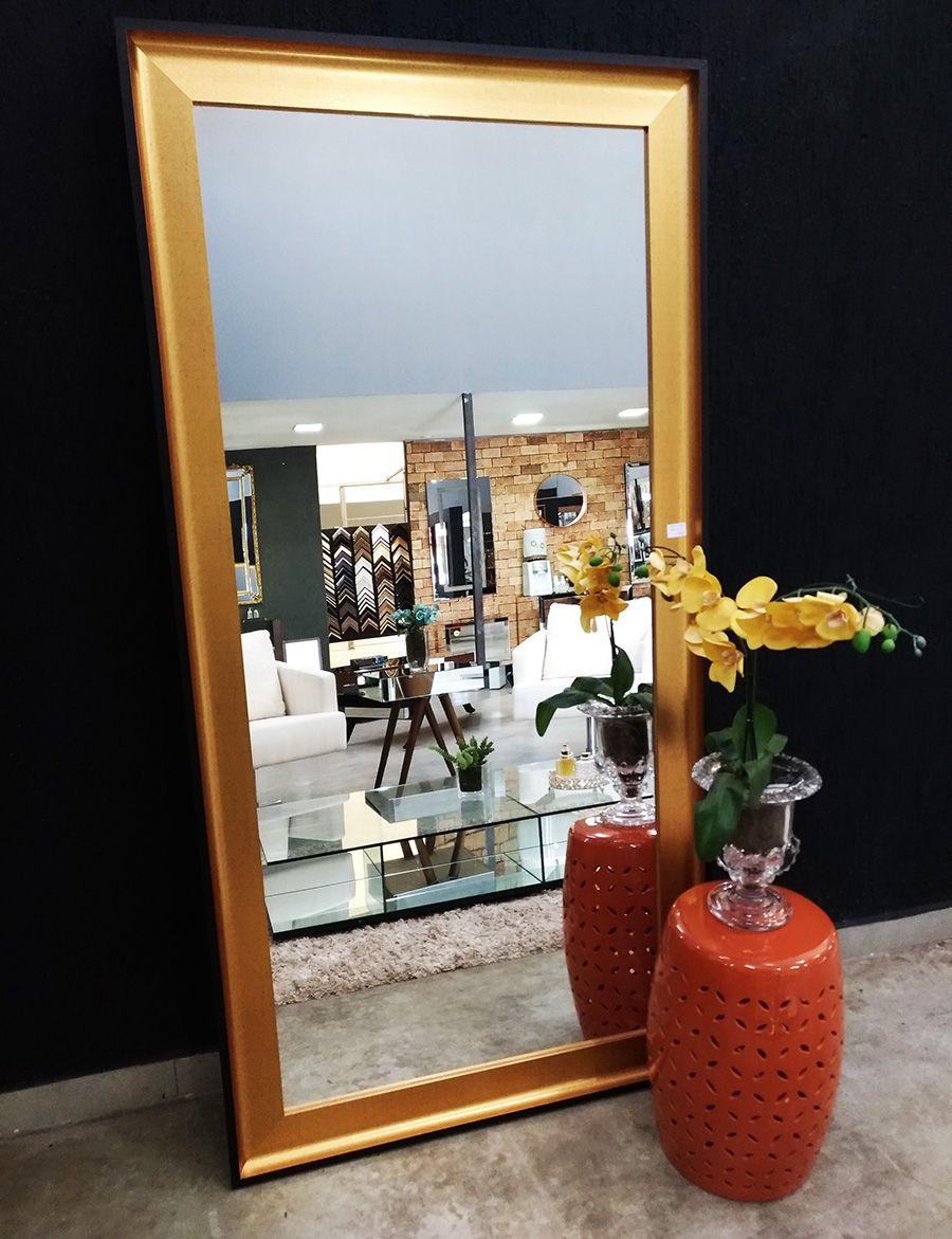 Espelho com Moldura Dourada e Preta UD 5067.9152