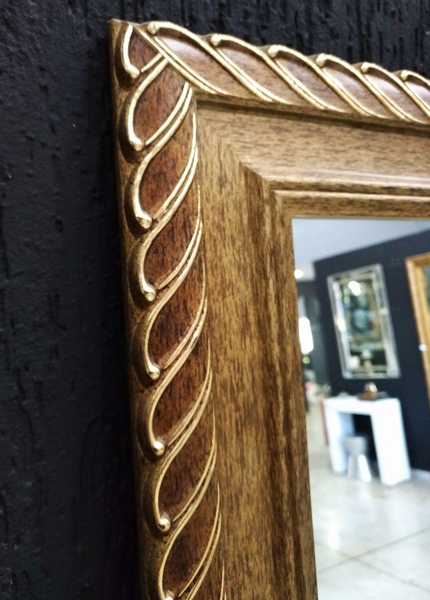 Espelho com Moldura Trançada Dourada UD 3027.8412