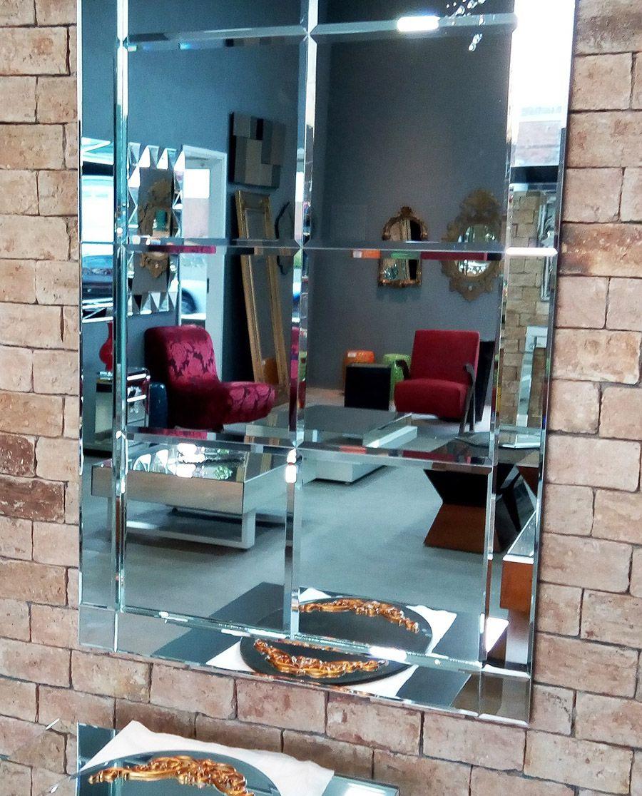 Espelho Decorativo de Parede Diamante Quadriculado
