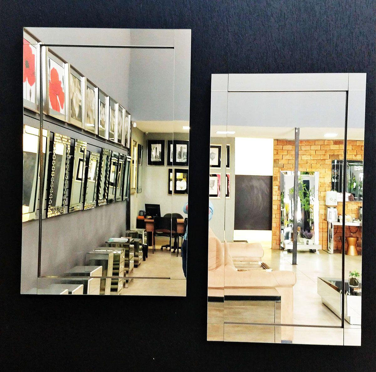 Espelho Decorativo de Parede Prata Clean