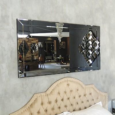 Espelho Decorativo de Parede Slim Fumê - Showroom