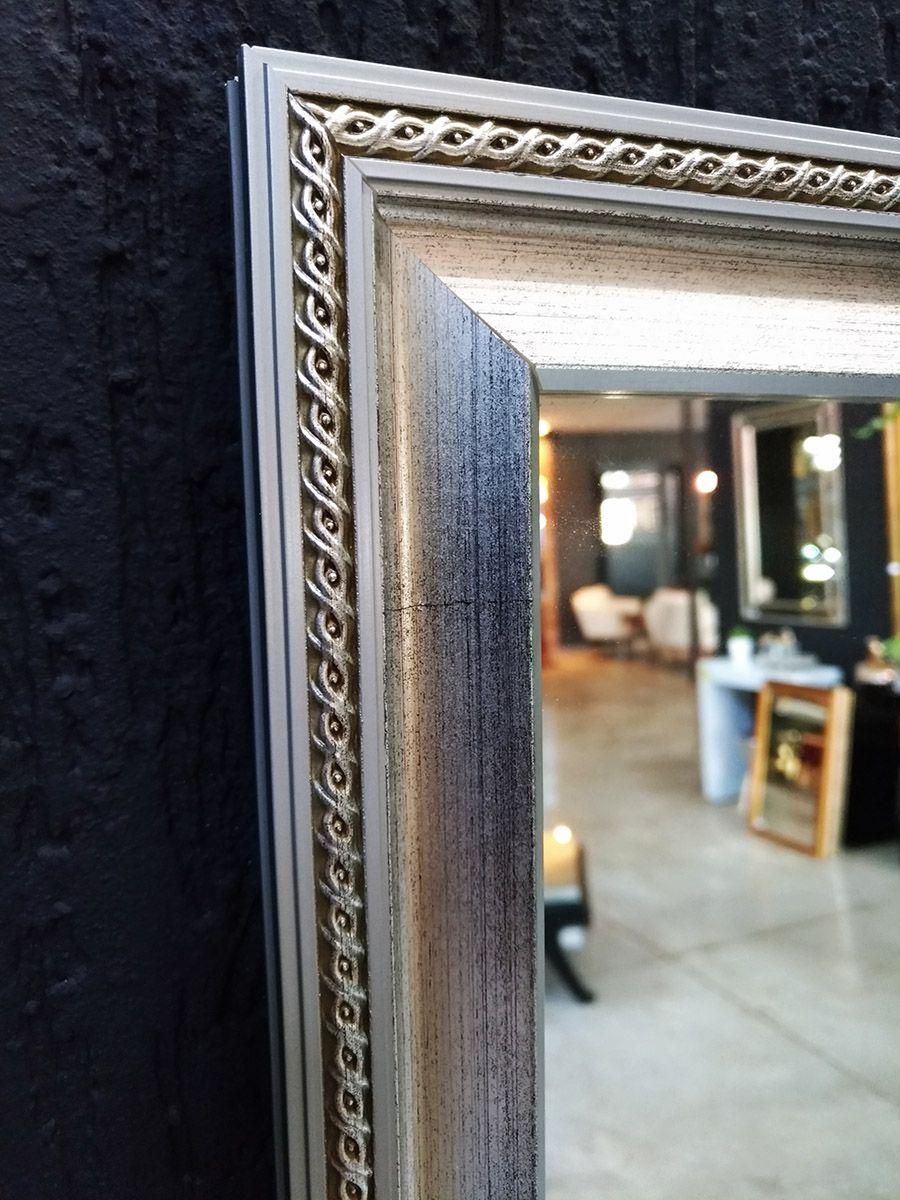 Espelho Moldura Prata Trançada UD 3036.9181