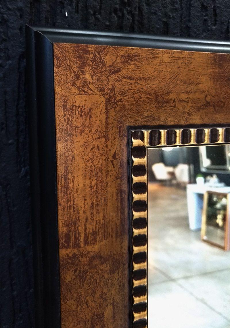 Espelho Moldura Rústica Dourada UD 2248.235
