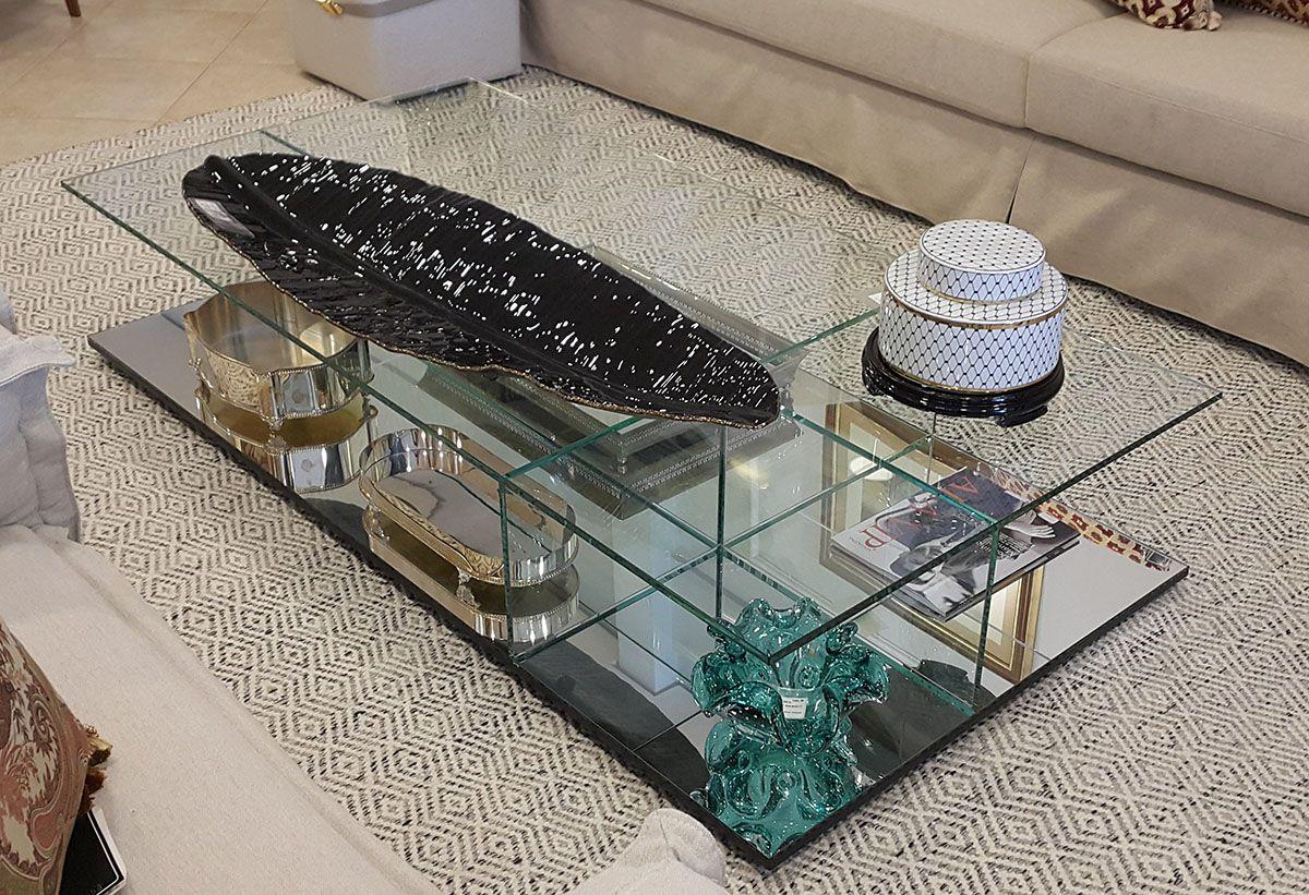 Mesa de Centro de Vidro Milao Classic