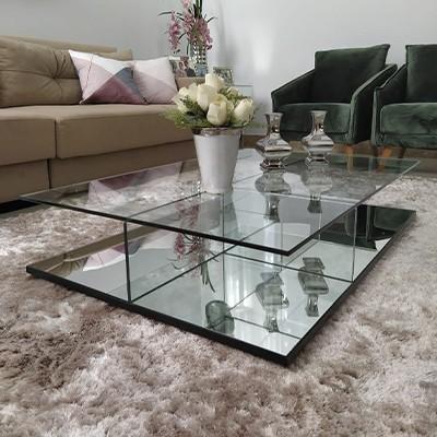 Mesa de Centro de Vidro Milão Classic