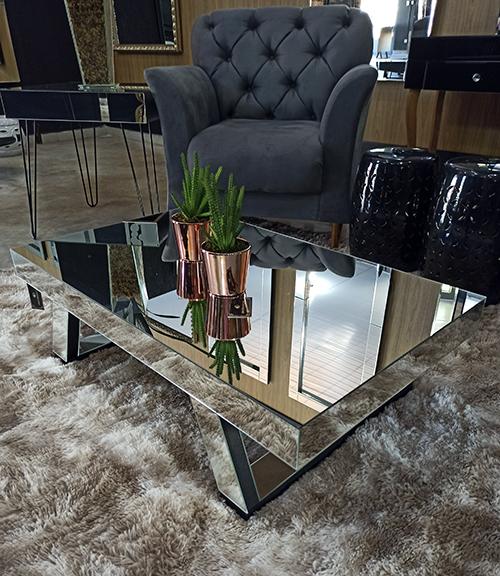 Mesa de Centro Espelhada Ibiza  - Universo Decor Móveis e Decoração
