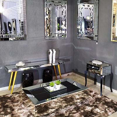 Mesa de Centro Espelhada Dubai  - Universo Decor Móveis e Decoração