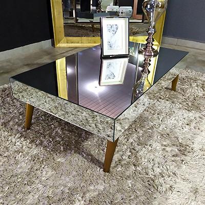 Mesa de Centro Espelhada Ônix Classic  - Universo Decor Móveis e Decoração