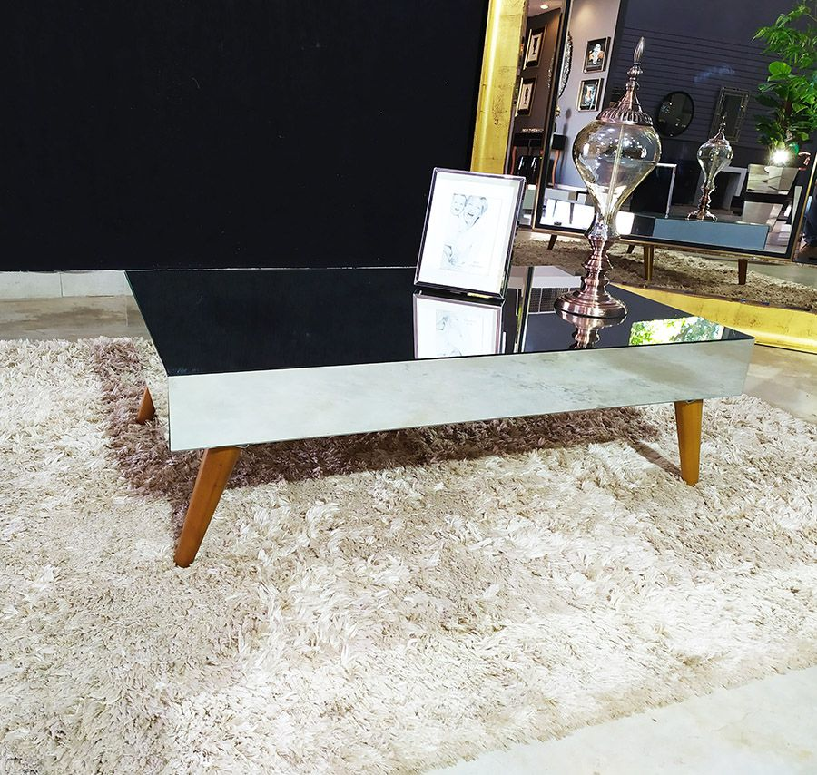 Mesa de Centro Espelhada Ônix Classic