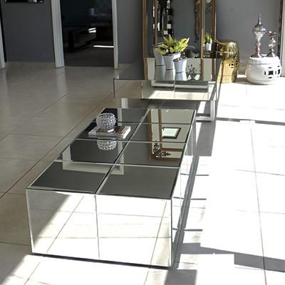 Mesa de Centro Espelhada Sophia Luxo  - Universo Decor Móveis e Decoração
