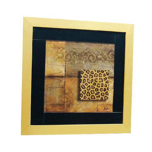 Quadro Moldura Dourada Africano II