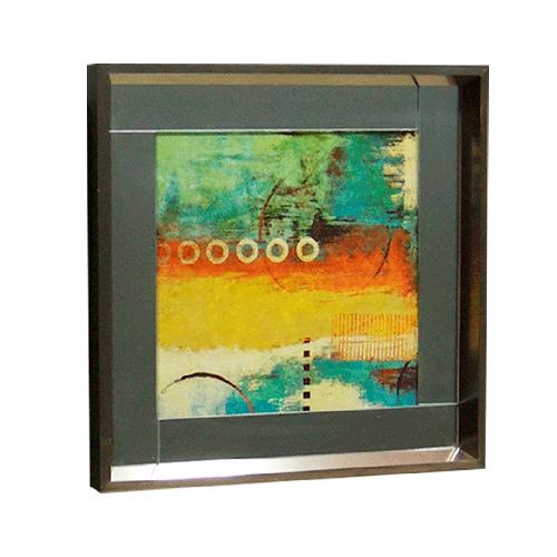 Quadro Moldura Prata Abstrato II