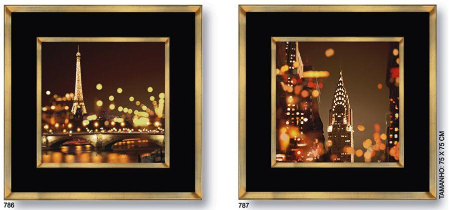 Quadros Luzes da Cidade UD 786.787  - Universo Decor Móveis e Decoração