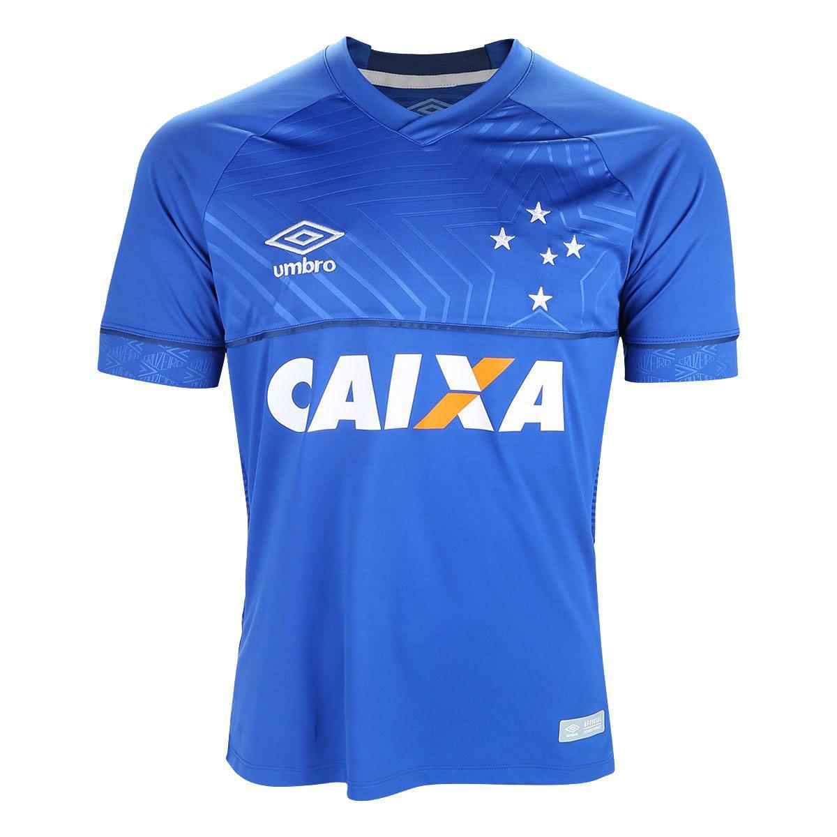 Camisa Cruzeiro I 18/19 s/n° Torcedor Umbro Masculina