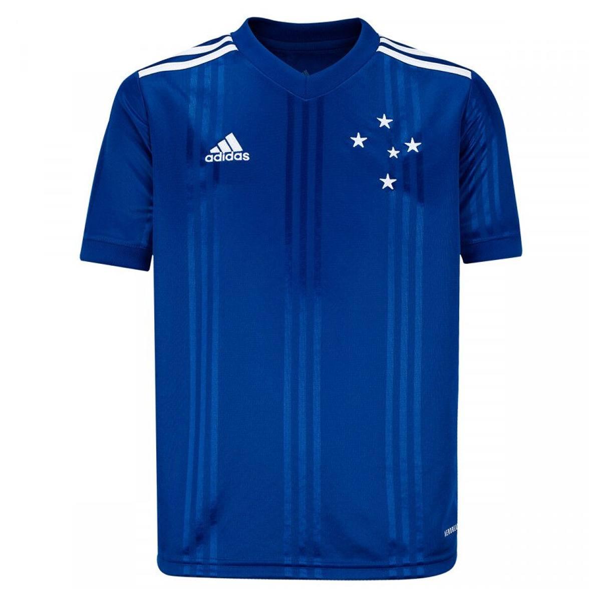 Camisa Cruzeiro Infantil I 20/21 s/nº Torcedor Adidas