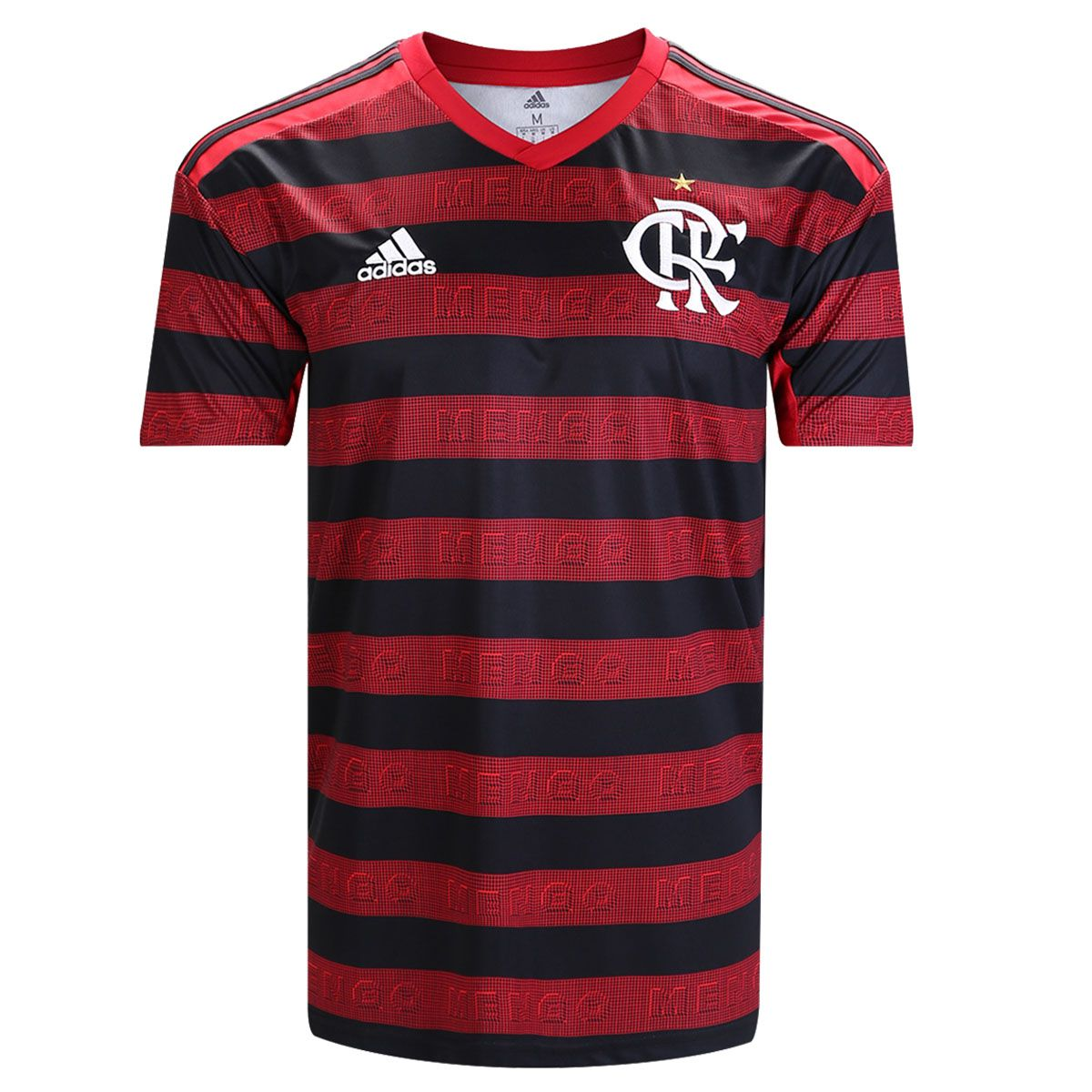 Camisa Flamengo I 19/20 s/n° Torcedor Adidas Masculina