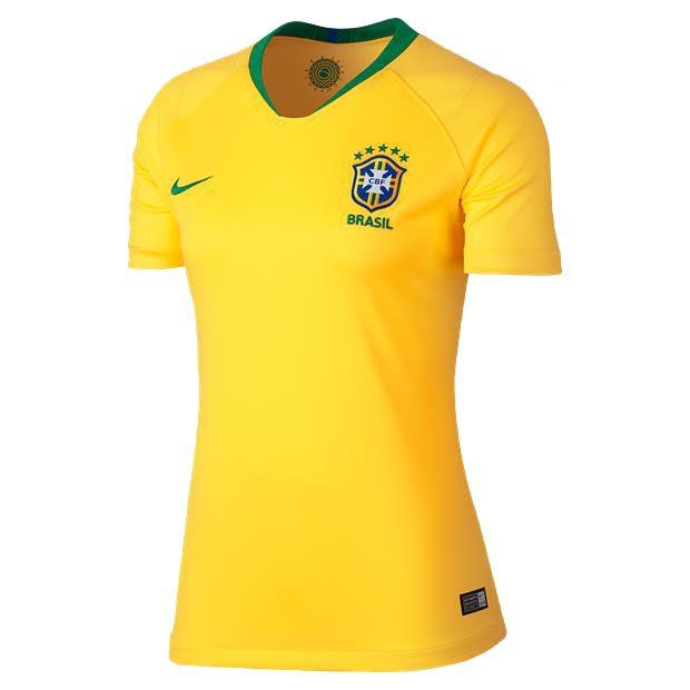Camisa Seleção Brasil I 2018 s/n° Torcedor Nike Feminina