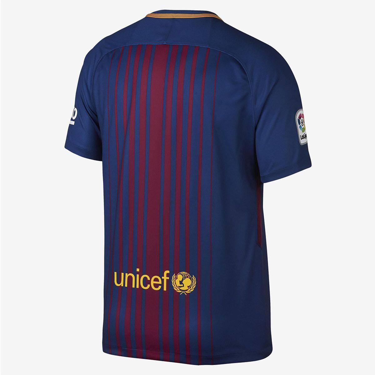 Camiseta Nike Barcelona I 2017/2018 Torcedor Masculina