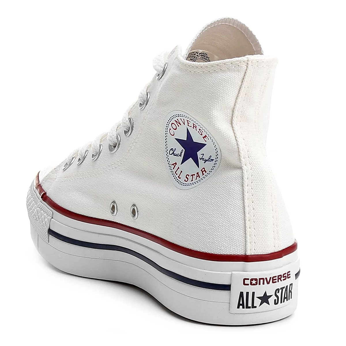 Tênis Converse All Star Chuck Taylor Plataforma Lift Hi Tecido Feminino