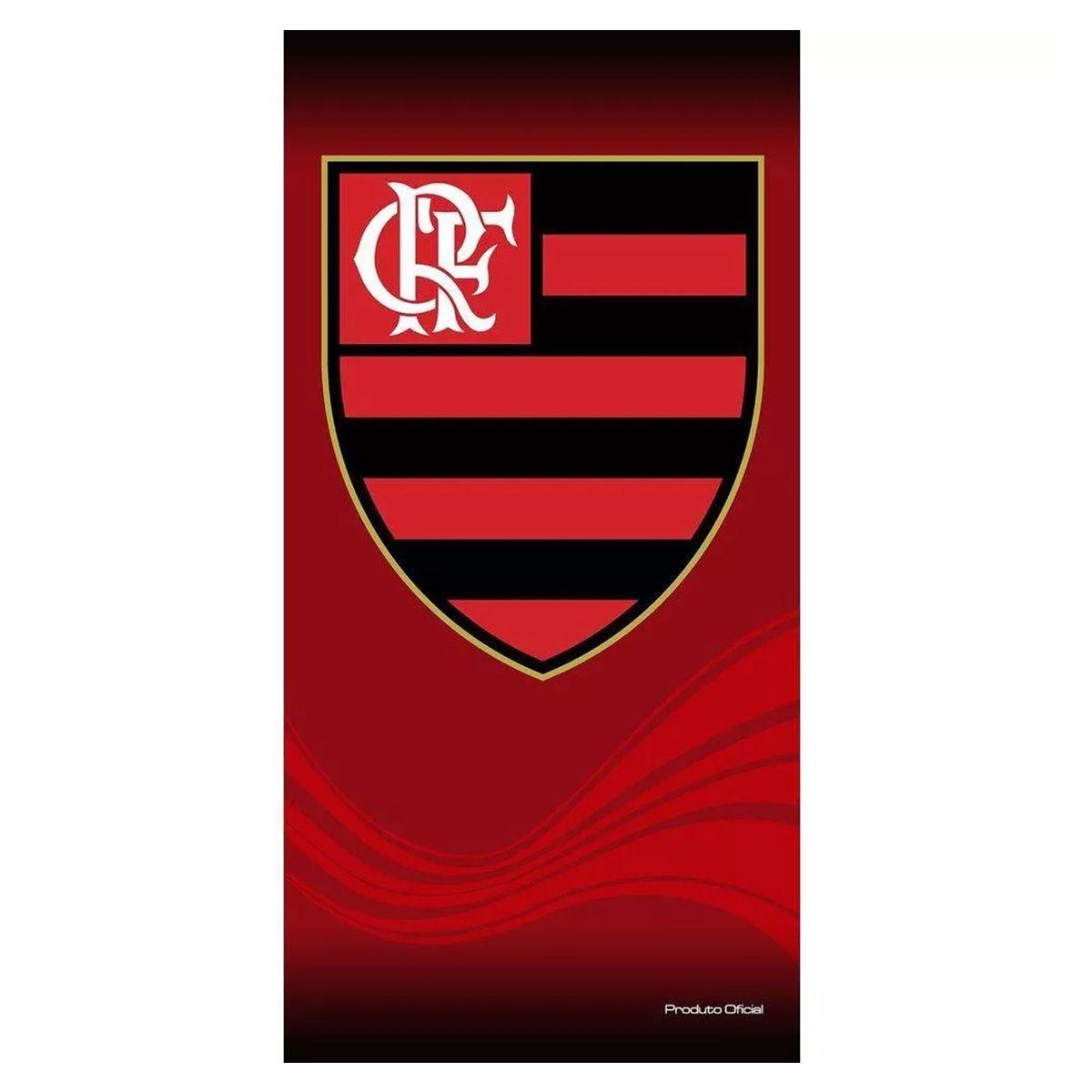 Toalha Veludo Flamengo Buettner Escudo