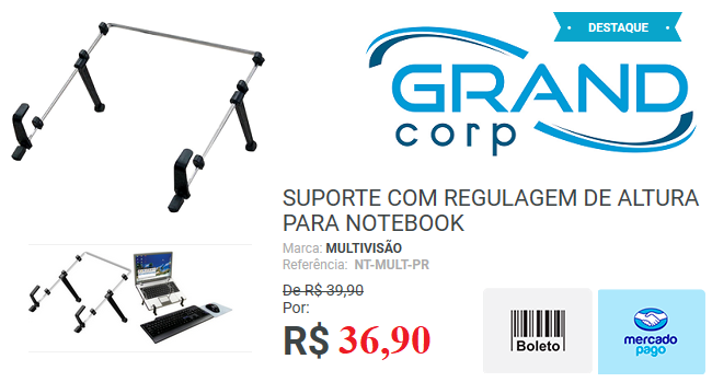 suporte de notebook com ajuste de altura