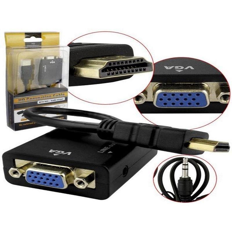 CABO CONVERSOR HDMI COM 24CM PARA VGA FEMEA
