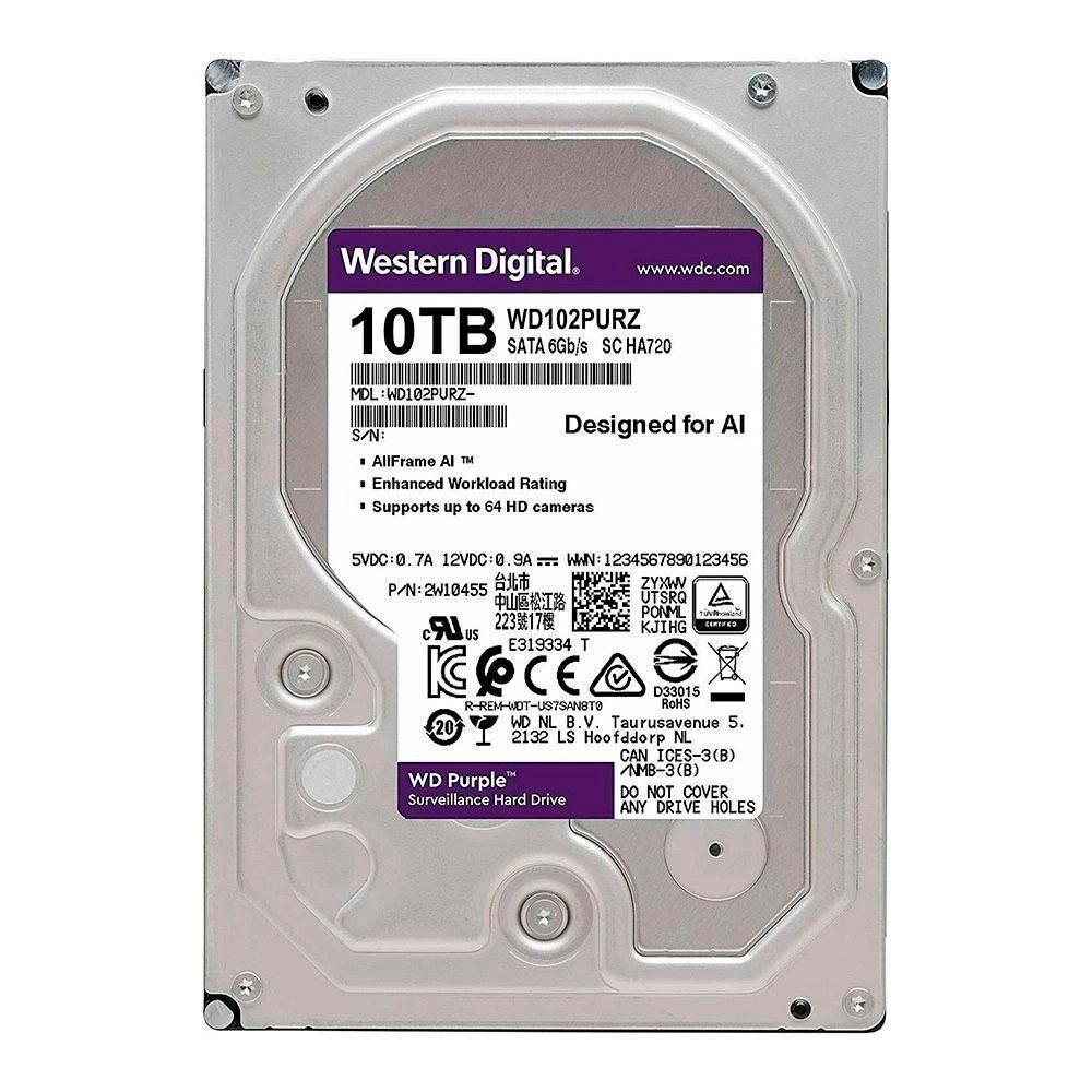 HD 10TB SATA WESTERN DIGITAL PURPLE SURVEILLANCE WD102PURZ