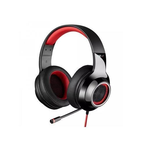 Headset Gamer 7.1 Virtual EDIFIER G4 - Over-Ear - Preto-Vermelho