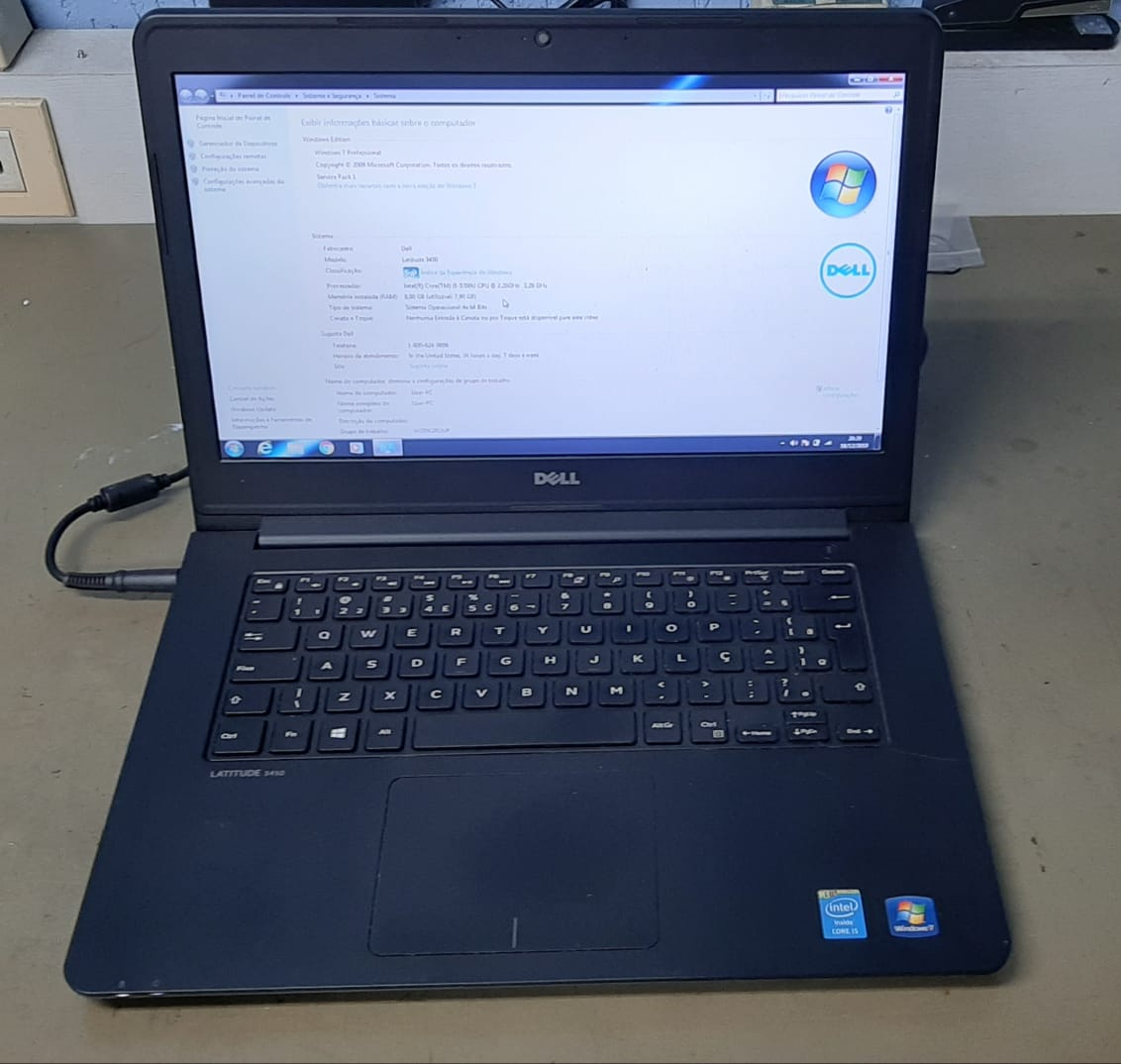 NOTEBOOK DELL LATITUDE 3450 CORE I5 8GB 1TB - USADO
