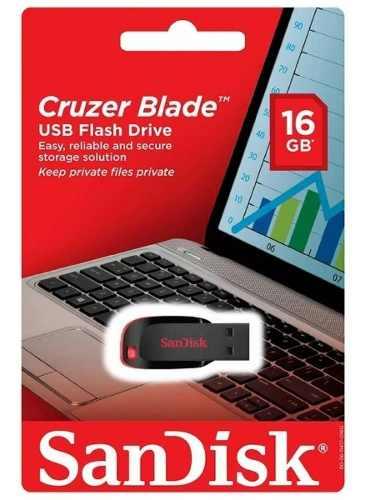 PEN DRIVE 16GB USB SANDISK CRUZER BLADE