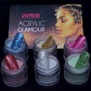 Kit pó acrílico colorido coleção Glamour