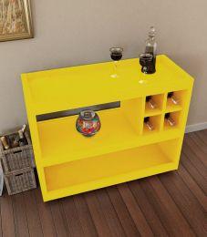 Aparador Bar Com Rodízio Amarelo Brilho 4050 - JB Bechara