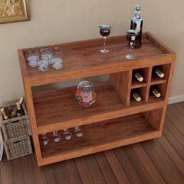 Aparador Bar Com Rodízio Caramelo Madeirado 4050 - JB Bechara
