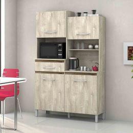 Armário para Cozinha 4 Portas Ártico / Amêndoa Pérola