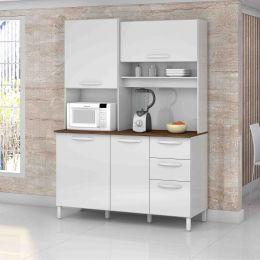 Armário de Cozinha 4 Portas Branco Diamante