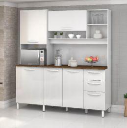 Armário para Cozinha 5 Portas Diamante Branco
