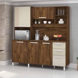 Armario para Cozinha 5 Portas Malbec / Camurca Diamante - VitaMov