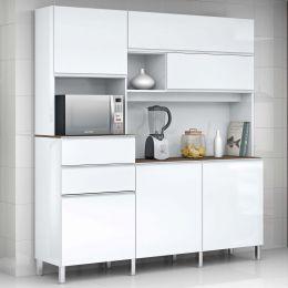 Armário para Cozinha 6 Portas Branco Elegance