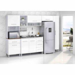 Armário para Cozinha 7 Portas Branco Esmeralda