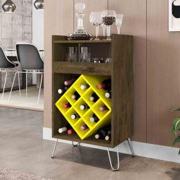 Bar Dior Madeira Rústica com Amarelo