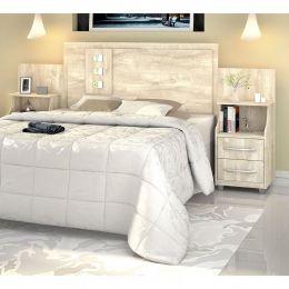 Cabeceira para cama Casal/Queen/King com Criados Flórida  Ártico - VitaMov