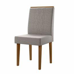 Cadeira Estofada Para Sala de Jantar Damasco / Titânio Cretta