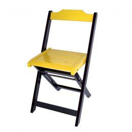 Cadeira para Sorveteria Amarelo Dobrável Roma
